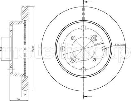 Metelli 23-0691 - Bremžu diski interparts.lv