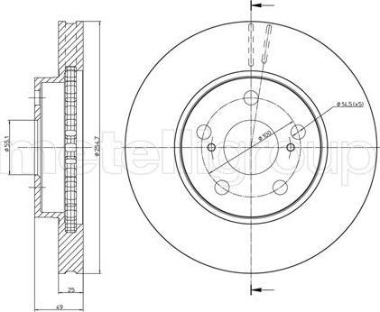 Metelli 23-0646C - Bremžu diski interparts.lv