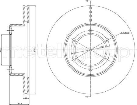 Metelli 23-0642 - Bremžu diski interparts.lv