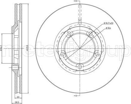 Metelli 23-0654 - Bremžu diski interparts.lv