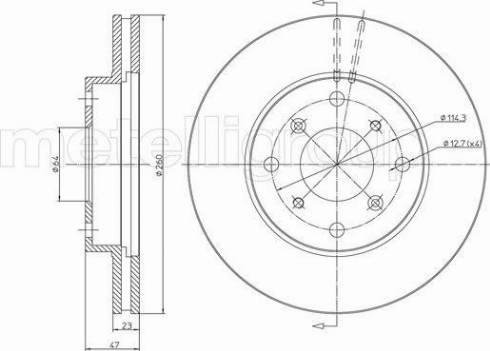 Metelli 23-0650 - Bremžu diski interparts.lv