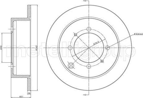 Metelli 23-0651 - Bremžu diski interparts.lv