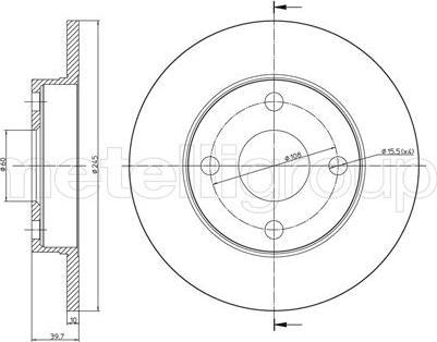 Metelli 23-0658 - Bremžu diski interparts.lv