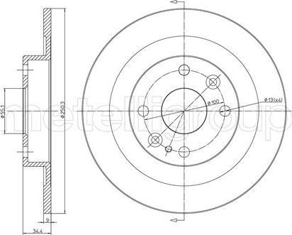 Metelli 23-0665 - Bremžu diski interparts.lv