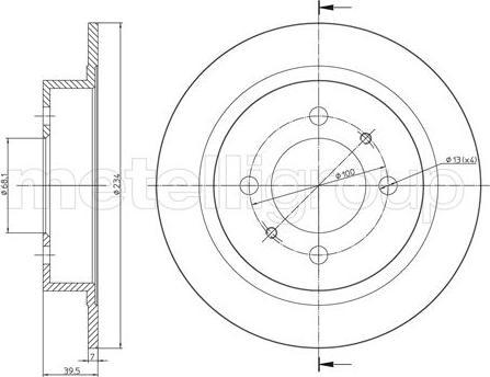 Metelli 23-0661 - Bremžu diski interparts.lv