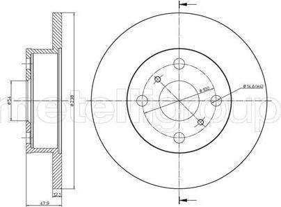 Metelli 23-0662 - Bremžu diski interparts.lv