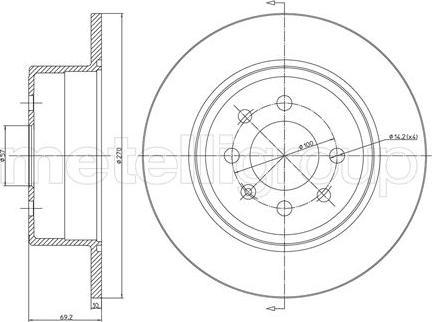 Metelli 23-0606C - Bremžu diski interparts.lv