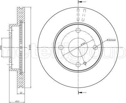 Metelli 23-0617 - Bremžu diski interparts.lv