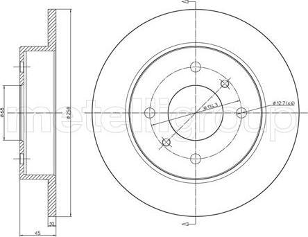Metelli 23-0633 - Bremžu diski interparts.lv