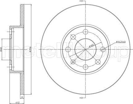 Metelli 23-0627 - Bremžu diski interparts.lv
