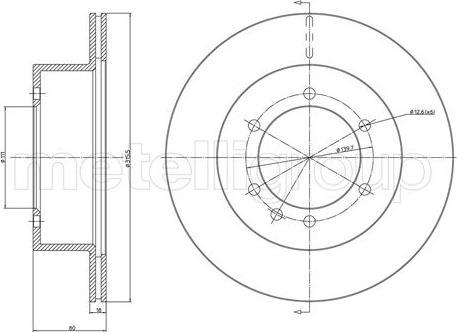Metelli 23-0679 - Bremžu diski interparts.lv