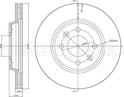 Metelli 23-0670 - Bremžu diski interparts.lv