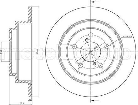 Metelli 23-0671 - Bremžu diski interparts.lv
