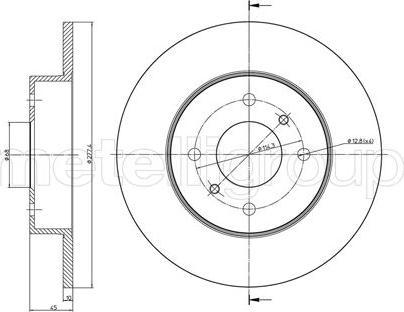 Metelli 23-0672 - Bremžu diski interparts.lv