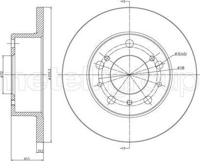 Metelli 23-0093 - Bremžu diski interparts.lv