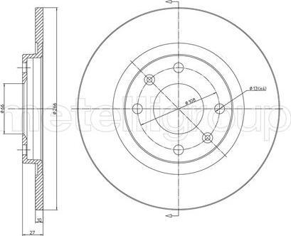 Metelli 23-0097 - Bremžu diski interparts.lv