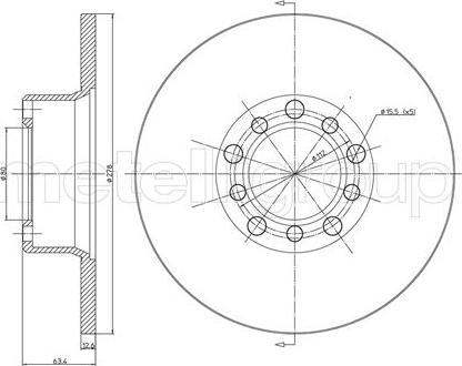 Metelli 23-0046 - Bremžu diski interparts.lv