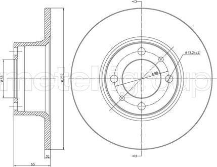Metelli 23-0043 - Bremžu diski interparts.lv