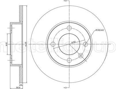Metelli 23-0054 - Bremžu diski interparts.lv