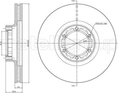 Metelli 23-0051 - Bremžu diski interparts.lv