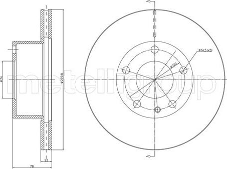 Metelli 23-0061 - Bremžu diski interparts.lv