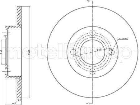 Metelli 23-0062 - Bremžu diski interparts.lv