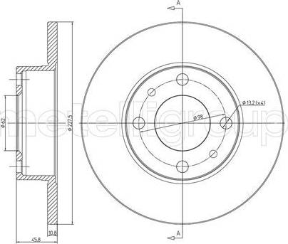 Metelli 23-0014 - Bremžu diski interparts.lv