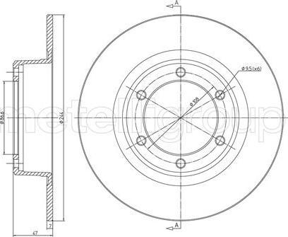 Metelli 23-0016 - Bremžu diski interparts.lv
