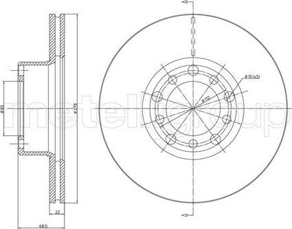 Metelli 23-0086 - Bremžu diski interparts.lv
