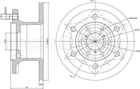 Metelli 23-0079 - Bremžu diski interparts.lv