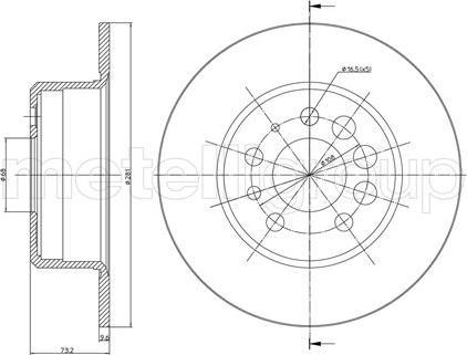 Metelli 23-0074 - Bremžu diski interparts.lv