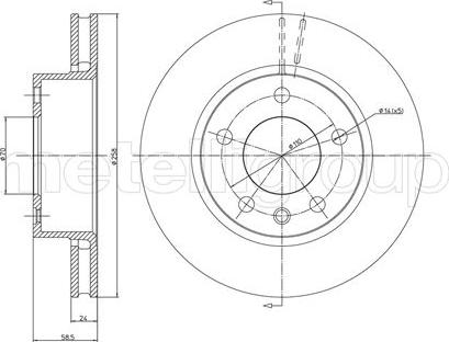 Metelli 23-0194 - Bremžu diski interparts.lv