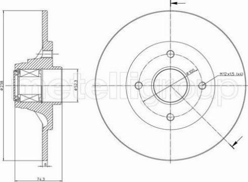 Metelli 23-0198 - Bremžu diski interparts.lv