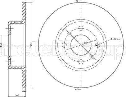 Metelli 23-0193C - Bremžu diski interparts.lv