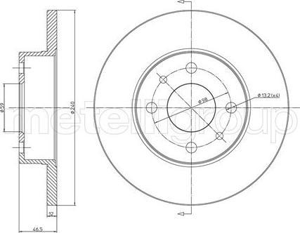 Metelli 23-0156 - Bremžu diski interparts.lv
