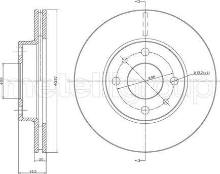 Metelli 23-0157 - Bremžu diski interparts.lv