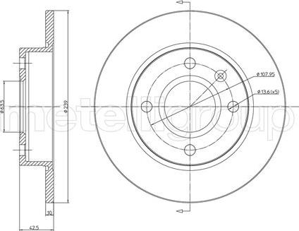 Metelli 23-0168 - Bremžu diski interparts.lv