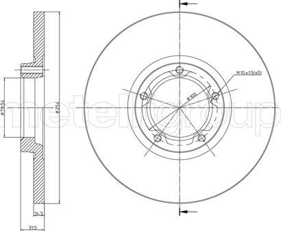 Metelli 23-0163 - Bremžu diski interparts.lv