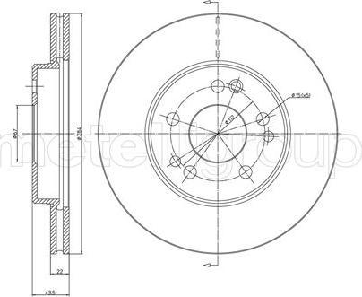 Metelli 23-0167 - Bremžu diski interparts.lv