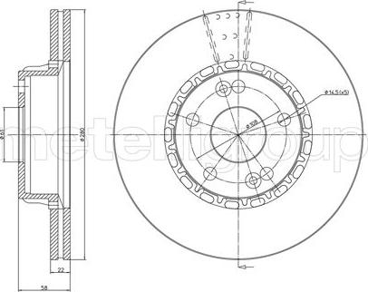 Metelli 23-0109 - Bremžu diski interparts.lv