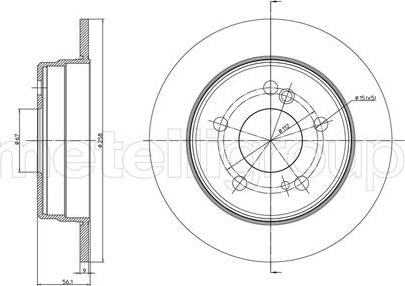 Metelli 23-0104 - Bremžu diski interparts.lv
