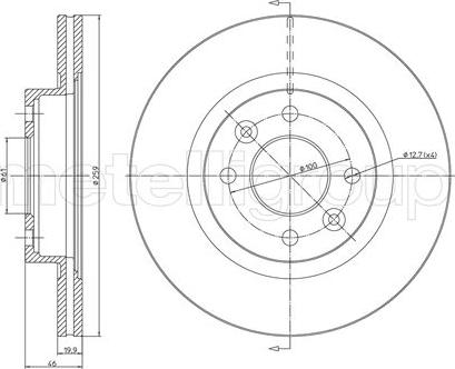 Metelli 23-0108 - Bremžu diski interparts.lv