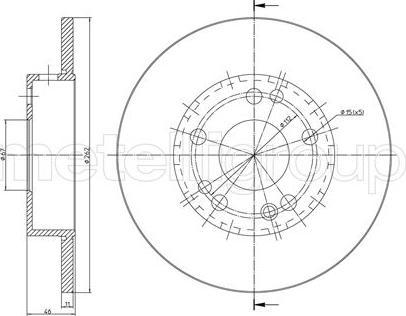Metelli 23-0103 - Bremžu diski interparts.lv