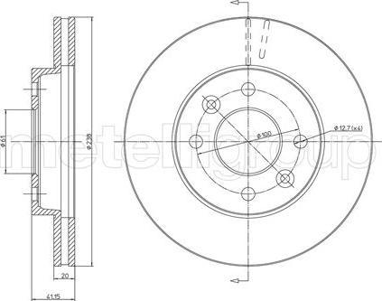 Metelli 23-0110 - Bremžu diski interparts.lv