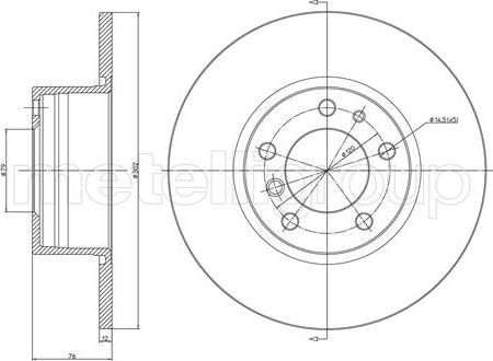 Metelli 23-0187 - Bremžu diski interparts.lv