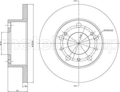 Metelli 23-0134 - Bremžu diski interparts.lv