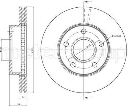 Metelli 23-0120 - Bremžu diski interparts.lv