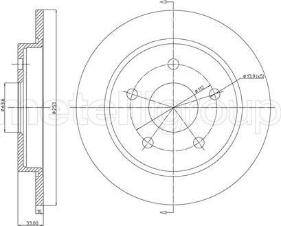 Metelli 23-0121 - Bremžu diski interparts.lv