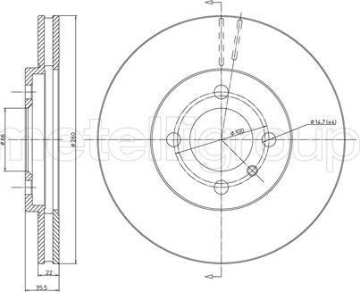 Metelli 23-0123 - Bremžu diski interparts.lv