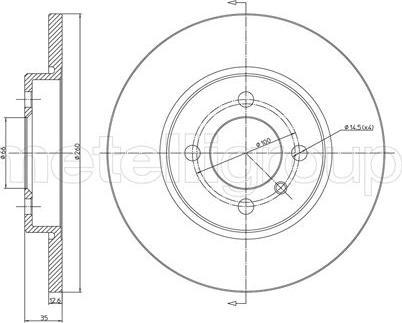 Metelli 23-0122 - Bremžu diski interparts.lv